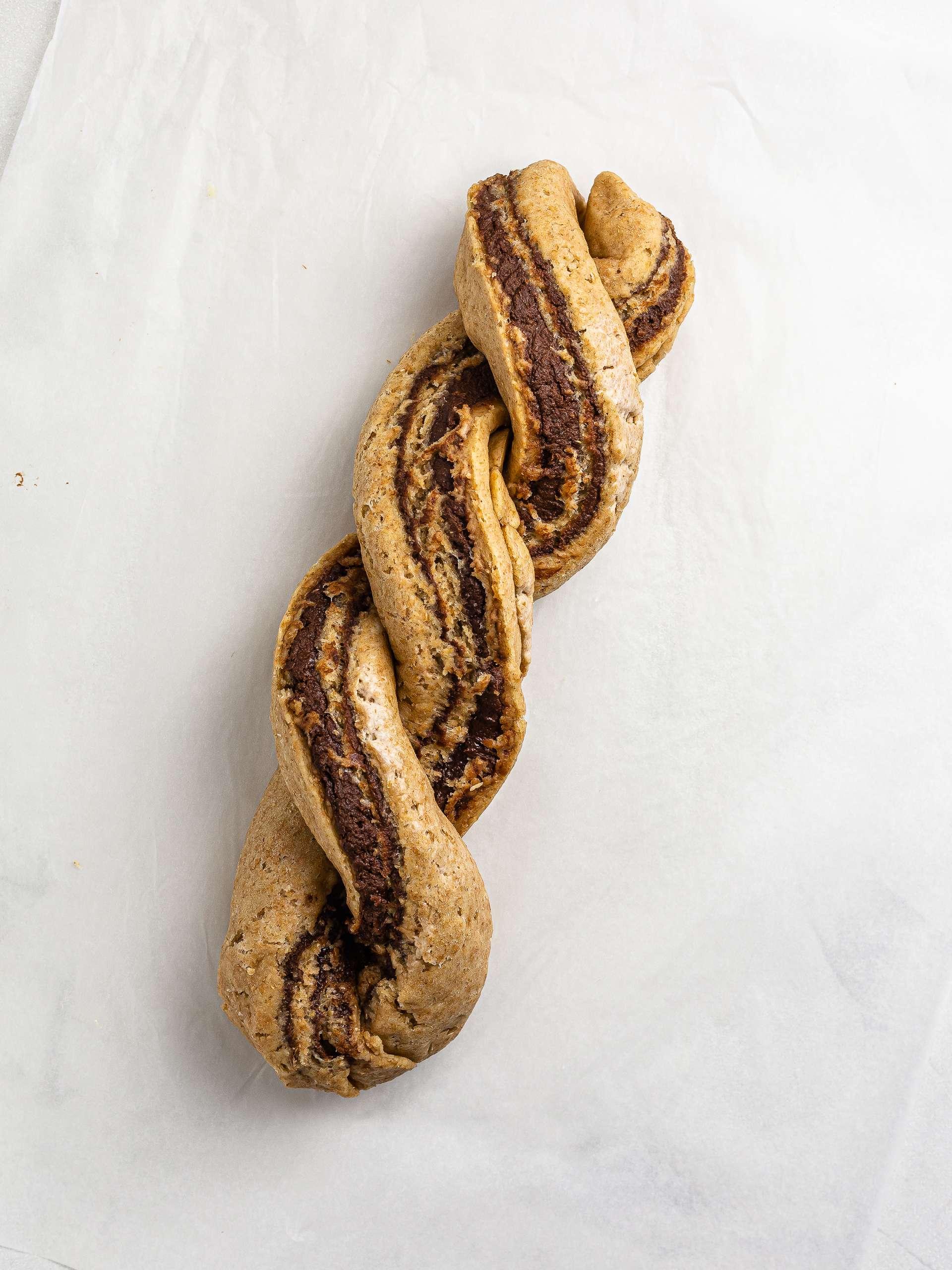 krantz cake shaped as twisted braid