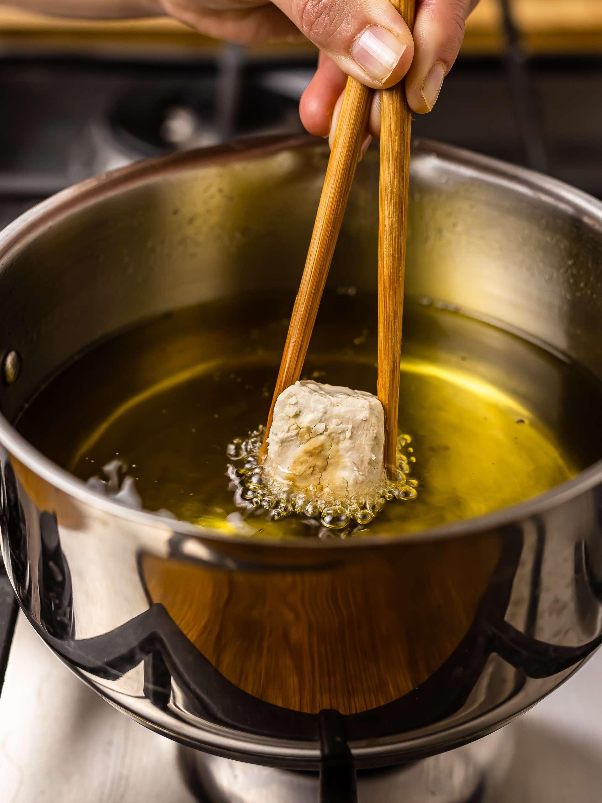 how to fry tofu karaage