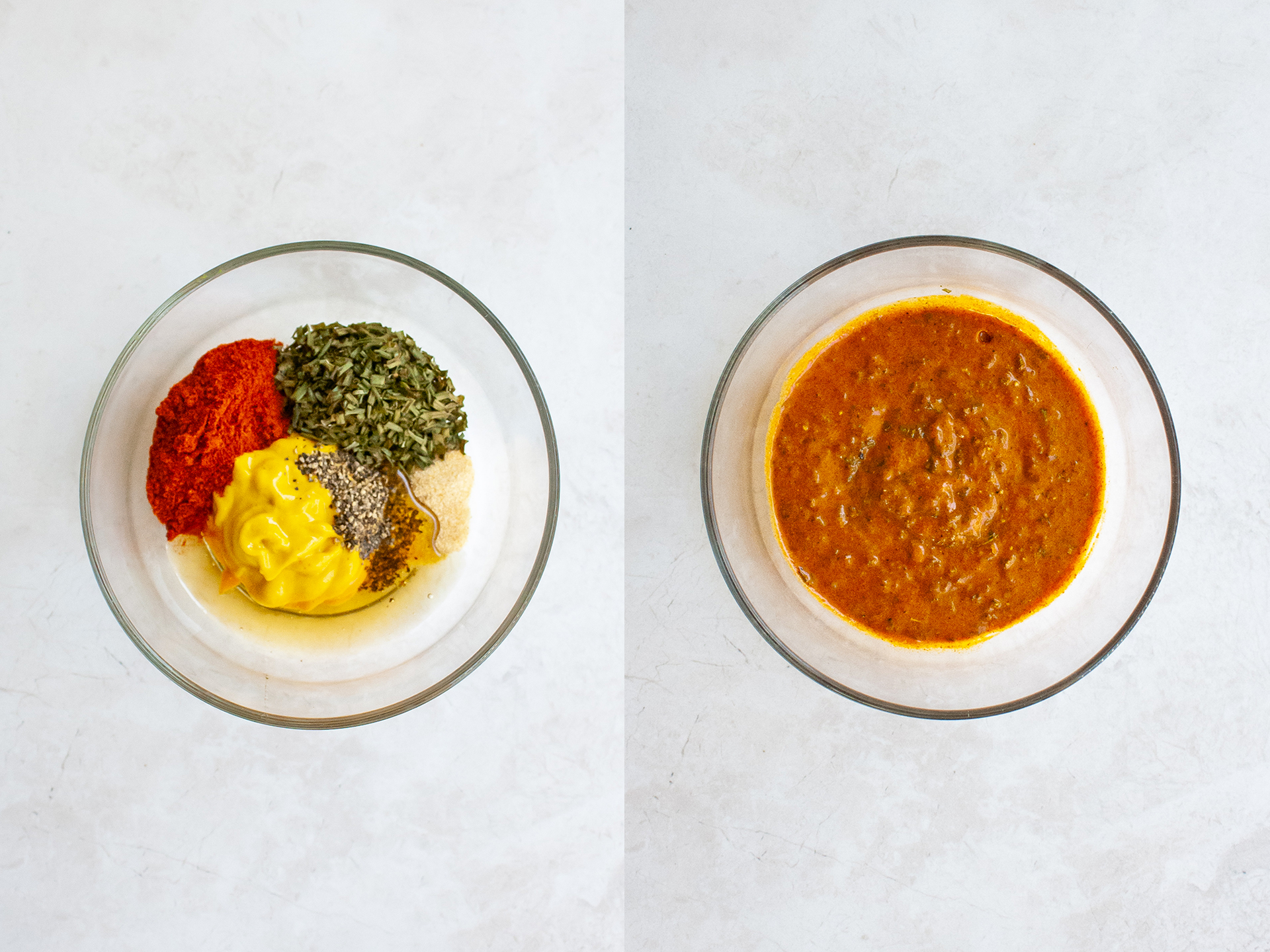 Honey and paprika glaze mixture