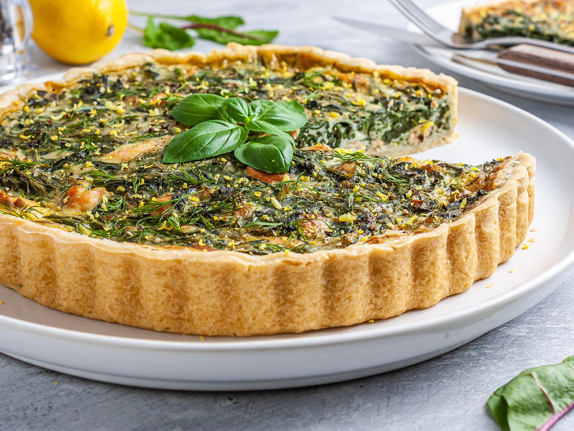 Dairy-Free Salmon and Spinach Quiche Recipe