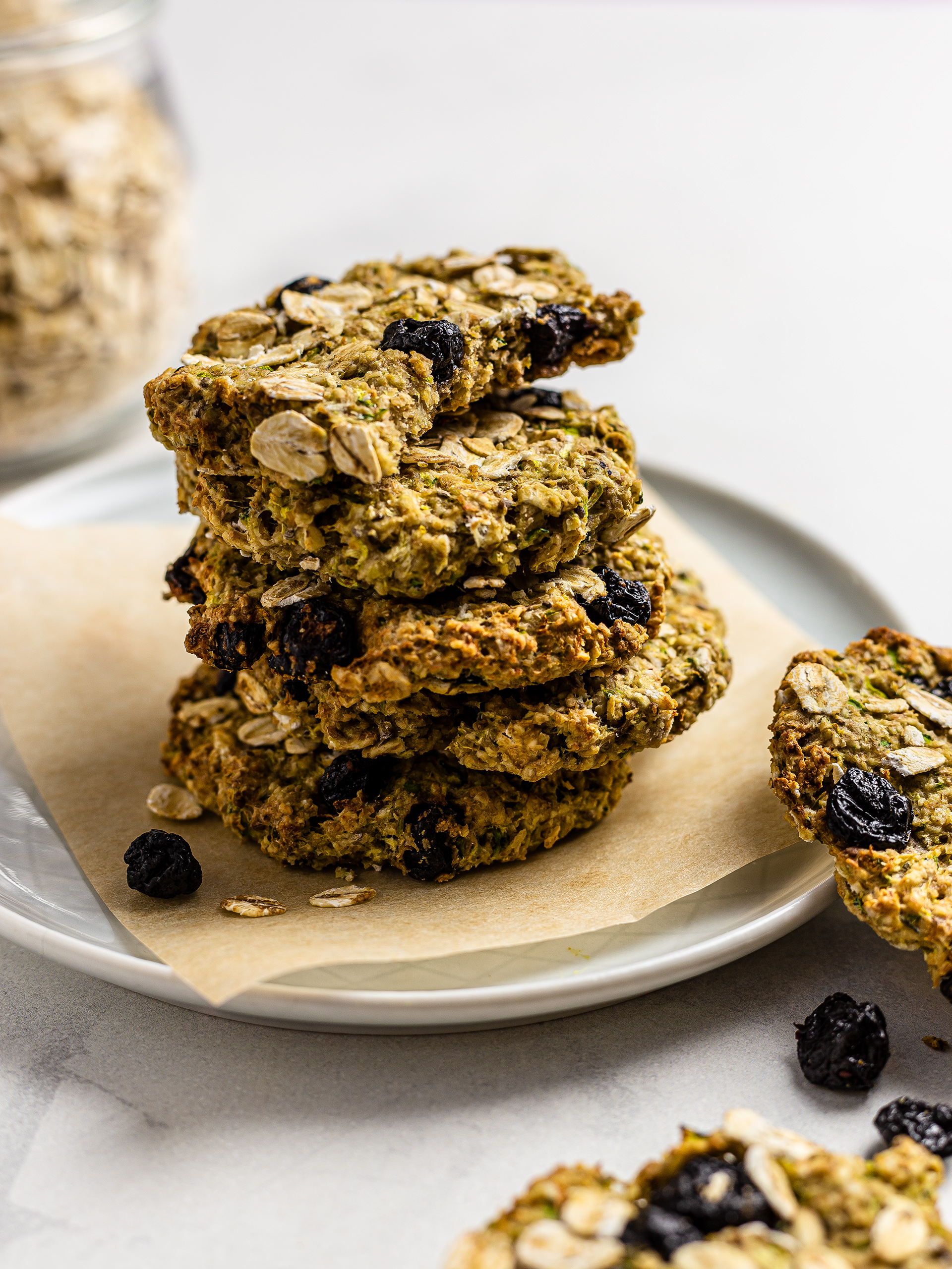 Vegan Zucchini Cookies with Blueberries Thumbnail