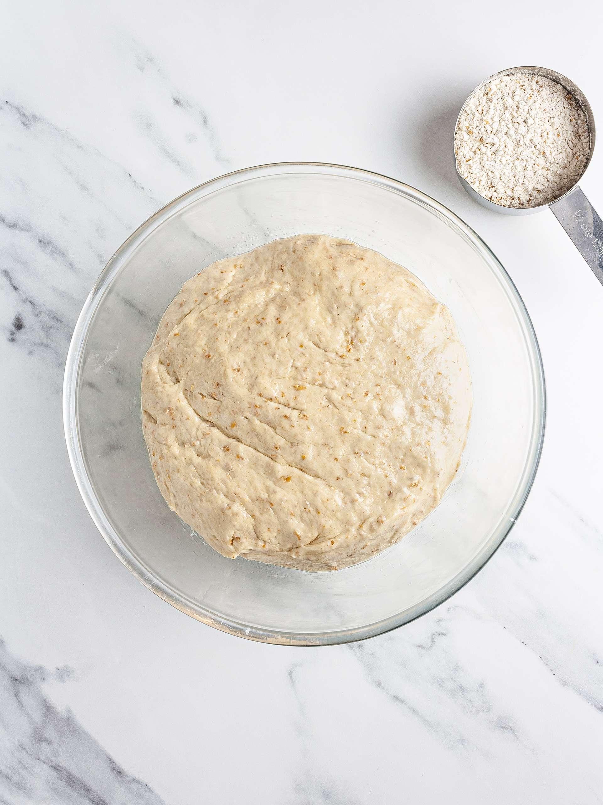 Sourdough croissant dough