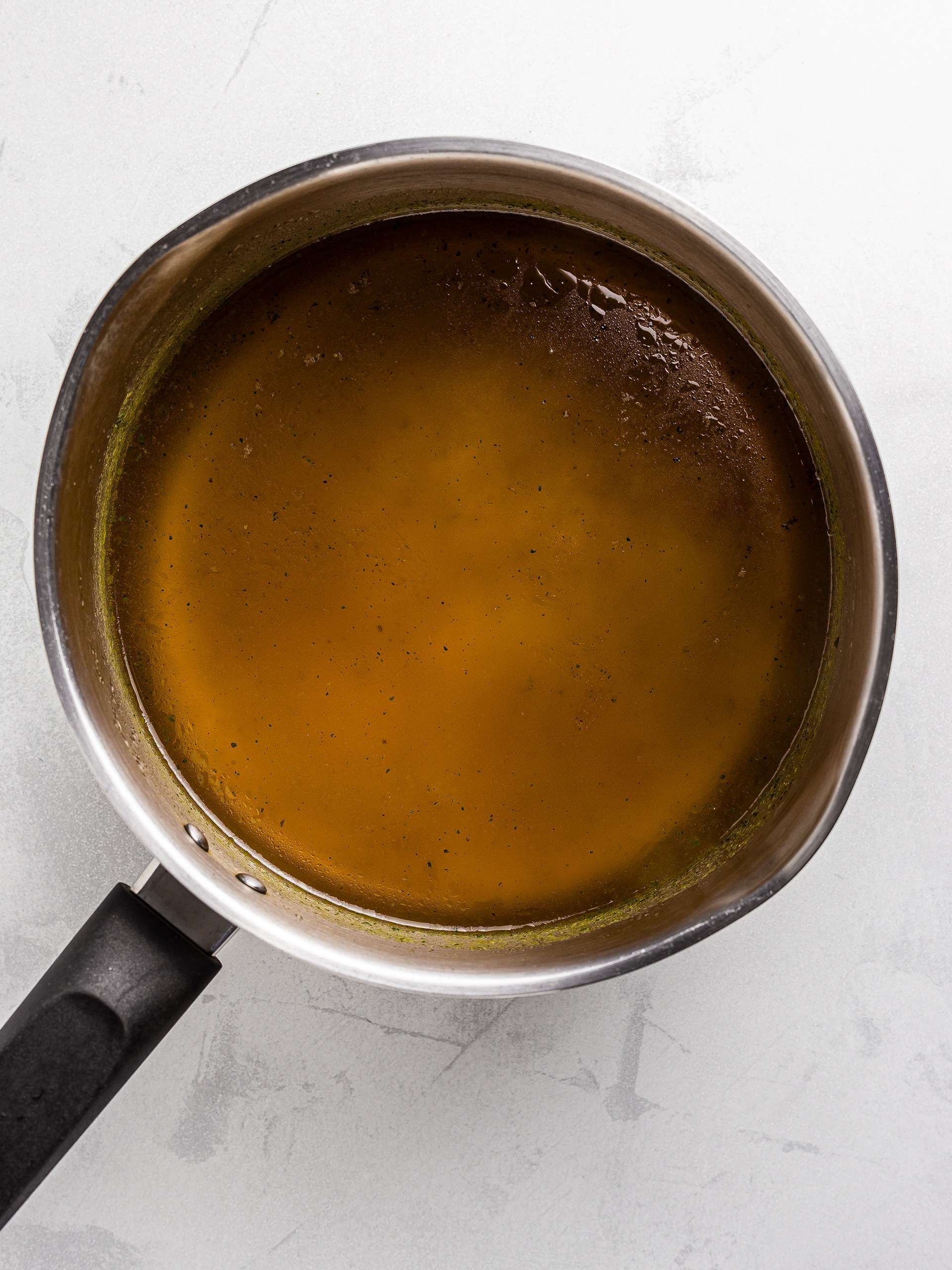 vegetable stock in a pot