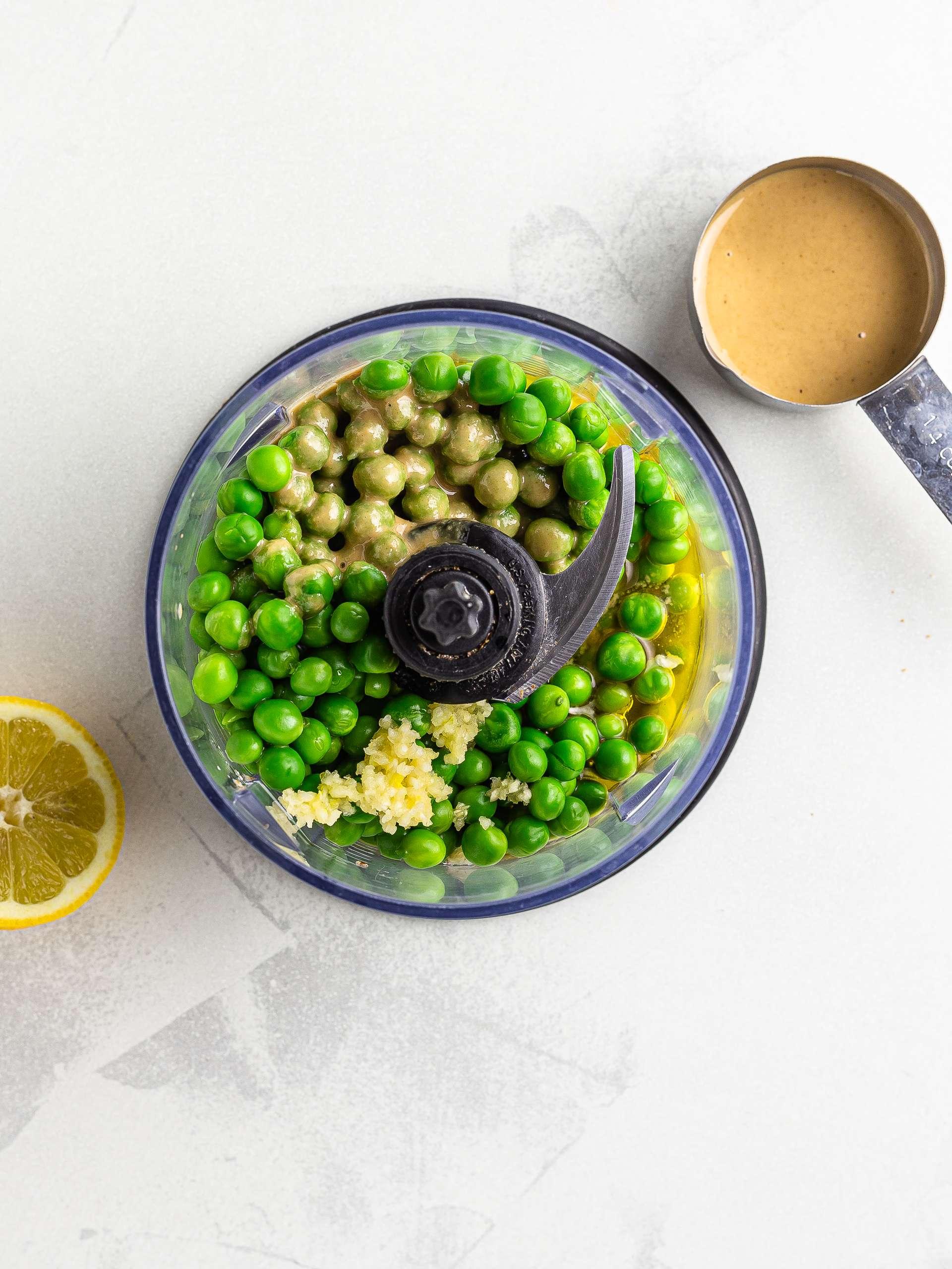 frozen pea hummus ingedients