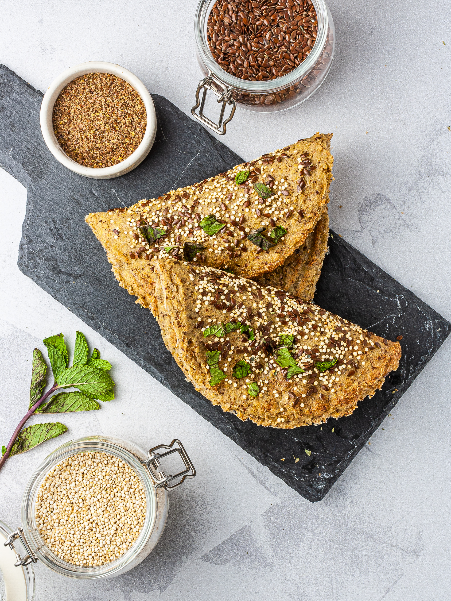 Gluten-Free Quinoa Flatbread Recipe Preview