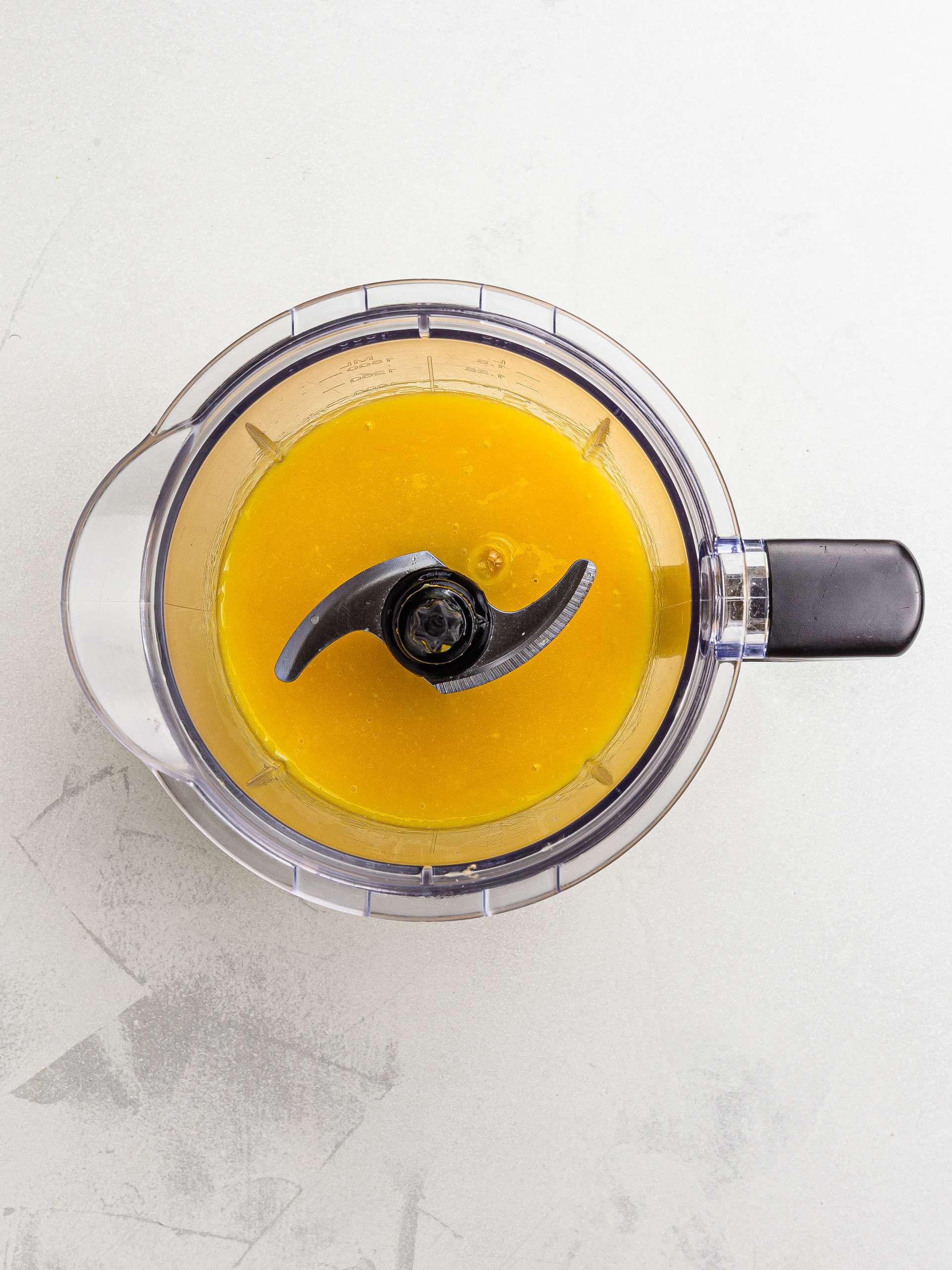blended mango for jelly