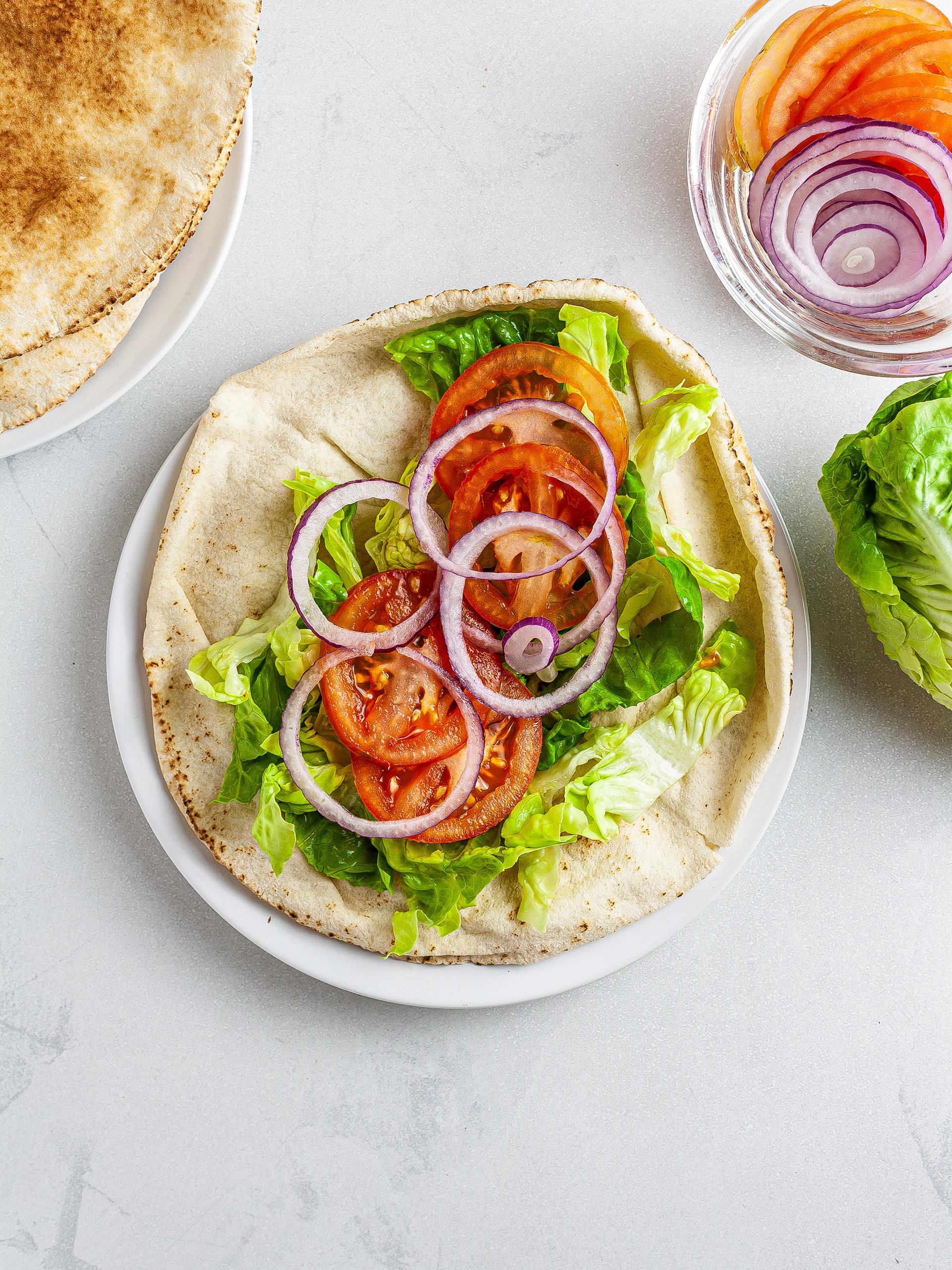 Step 3.2 of Vegan King Oyster Mushroom Shawarma