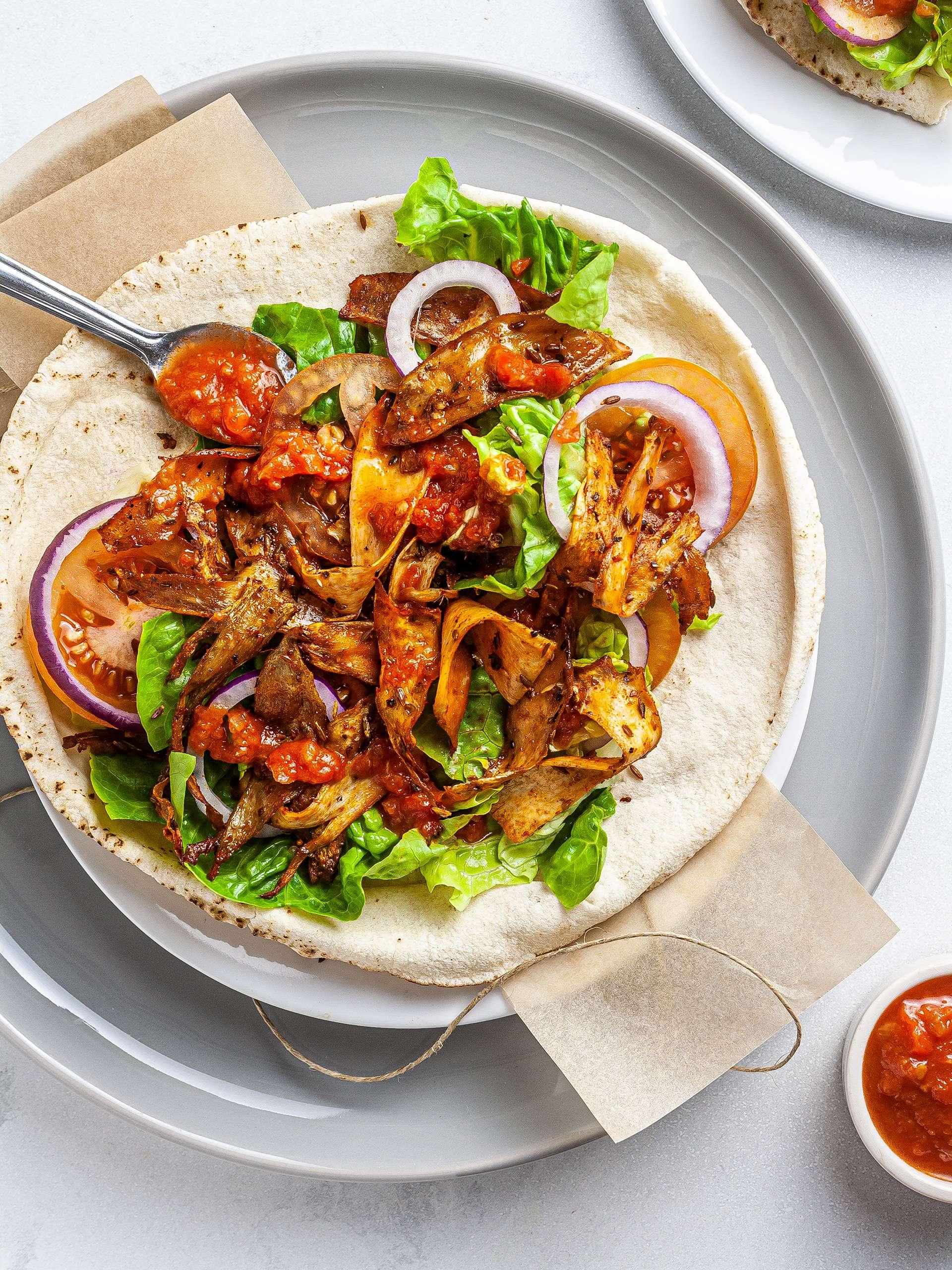 Vegan King Oyster Mushroom Shawarma Thumbnail