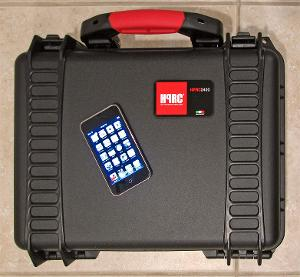HPRC 2400F case with Touch showing scale
