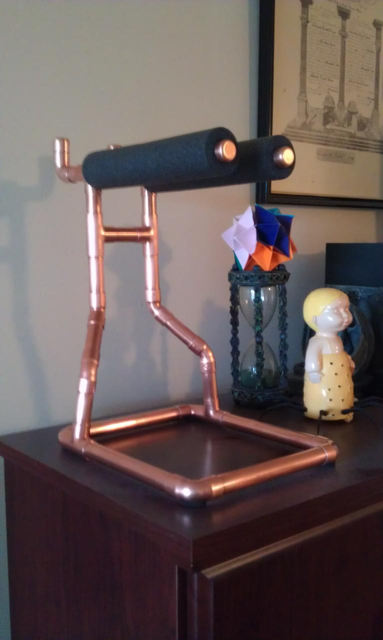 Copper Headphone  Stand Side View