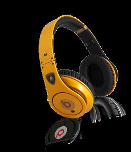 Fake yellow Beats with Lamborghini logo
