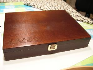 RS1 box, first type with big, tough-looking latch. I have applied lemon oil on this one.