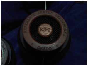 """Buttoned RS2 ... non-""""i"""". This is one of the worst looking, lol. The """"Grado"""" lettering looks..."""