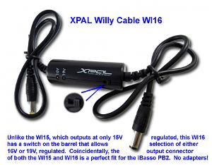 XPAL Willy Cable WI16 - perfect for connecting the Energizer XP8000 to an iBasso PB2 - for a...
