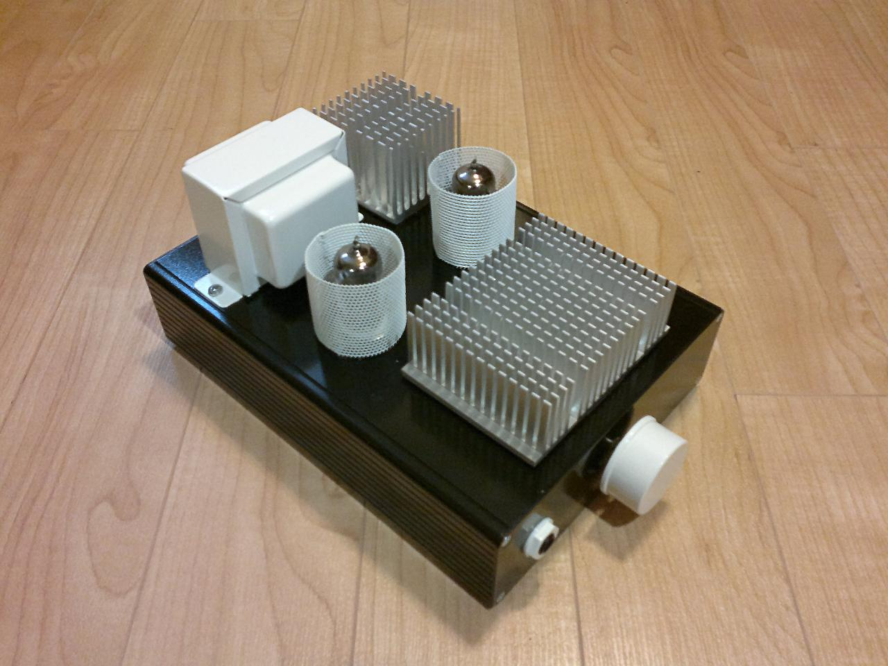 """My Millett """"Starving Student"""" Hybrid headphone amplifier. The whole circuit was built..."""