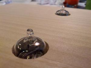 This is as much as they stick out.  I ned to clean up the holes a bit with some TLC, but for...