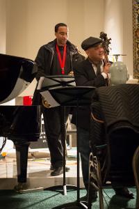 Saxophonist Javon Jackson and bassist Peter Washington.