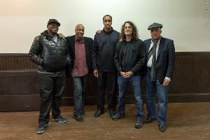 (left to right) Trumpeter Jeremy Pelt, drummer Billy Drummond, saxophonist Javon Jackson, David...
