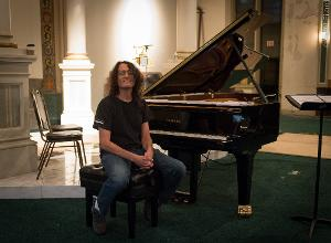 """David Chesky getting ready for his solo piano recording called """"The New York Rags,"""" which David..."""