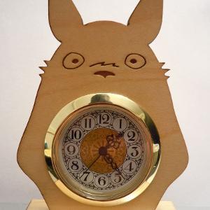 Wood Totoro Clock