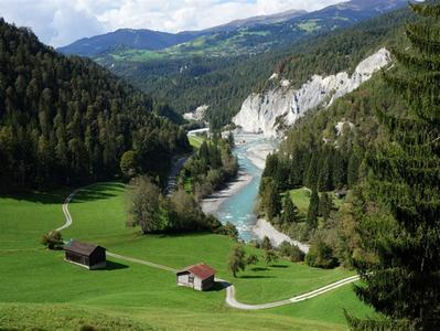 Swiss Grand Canyon Helicopter Tour from Untervaz