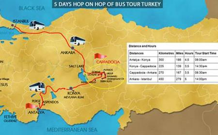 Antalya to Istanbul 5-Day Hop-on Hop-off Bus Tour