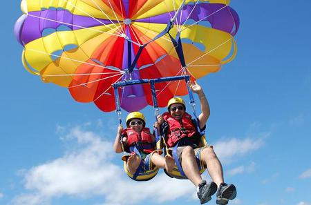 Two Great Adventures: Parasail Experience and Shopping Tour From Punta Cana