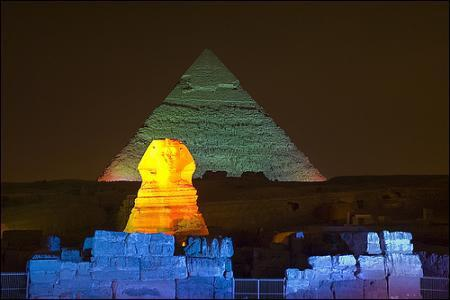 Cairo: Giza Pyramids Sound and Light Show with Dinner