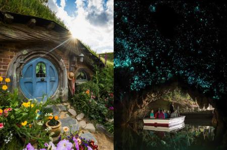 Hobbiton Movie Set and Waitomo Glowworm Caves Day Trip from Auckland