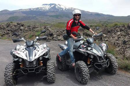 Etna on Quad Bike