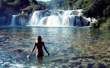 Krka Waterfalls from Trogir and Split