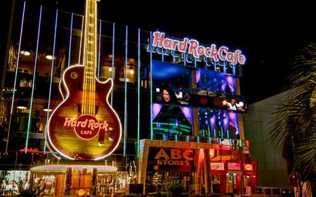 Meal at Hard Rock Café on the Las Vegas Strip