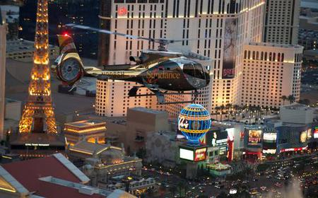 Las Vegas Strip Helicopter at Night