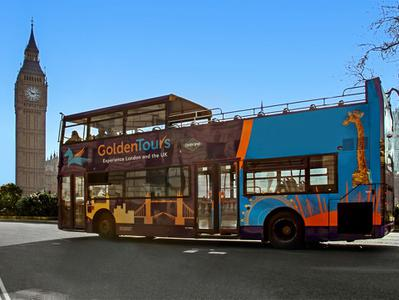 London Hop On Hop Off Bus 24-Hour with Free Walking and River Boat Tour