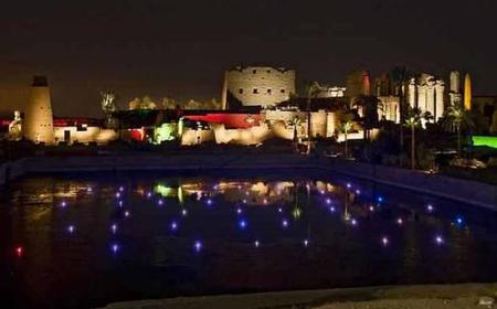From Luxor: Sound and Light Show at Karnak Temples