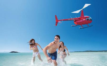 Helicopter Tour: Great Barrier Reef with Whitehaven Landing