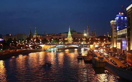 Moscow: 2-Hour Guided Night Tour in Spanish