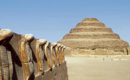From Cairo:Giza Pyramids,Sakkara Pyramid and Memphis