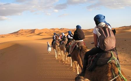 From Merzouga: Overnight Camel Trek over Erg Chebbi Dunes
