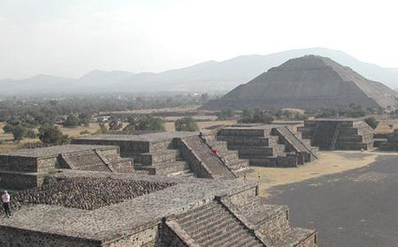 Guadalupe Shrine and Teotihuacan Pyramids from Mexico City