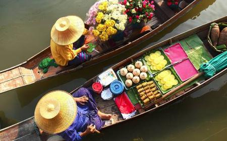 Floating Market, Train Market Flower Market & China Town