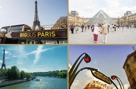 Skip the Line: Louvre, Seine River Cruise, Big Bus Hop-On Hop-Off and 10 Metro Tickets