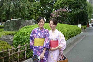 Private Kimono Experience in Asakusa with Tsukiji Fish Market Walking Tour and Water Bus Ride