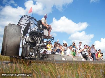 Miami Everglades Airboat Ride and Wildlife Show plus Biscayne Bay Cruise
