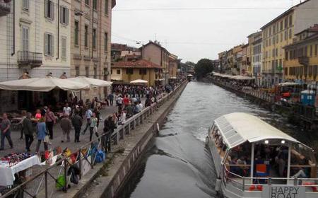 Milan: Navigli Evening Bike Tour with Aperitivo