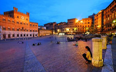 Siena by Night with Dinner in Piazza del Campo
