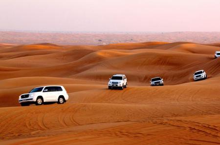 Sunset Desert Safari with free Sand Boarding from Abu Dhabi