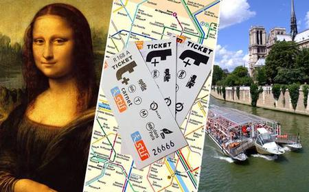 A Day in Paris: Louvre, Cruise, and Metro Combo Ticket