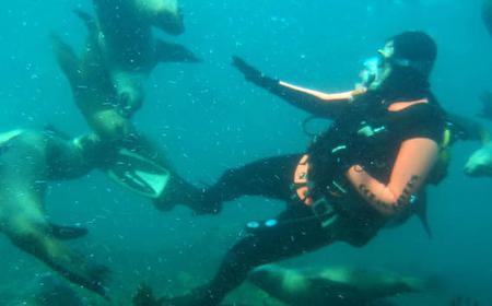 Scuba Diving Submarine Baptism