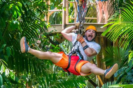 Shore Excursion: Cave Tubing and Zipline Adventure from Belize City